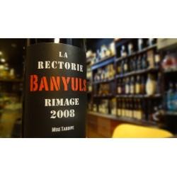 BANYULS RIMAGE MISE TARDIVE LA RECTORIE ROUGE 2008