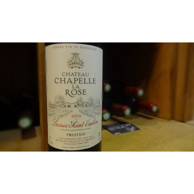 LUSSAC SAINT EMILION CHAPELLE LA ROSE ROUGE 2008