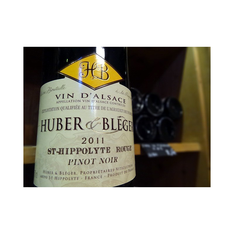 ROUGE DE SAINT HIPPOLYTE HUBER ET BLEGER ROUGE 2011