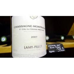 CHASSAGNE MONTRACHET 1ER CRU LA GRANDE MONTAGNE  DOMAINE LAMY PILLOT BLANC 2007